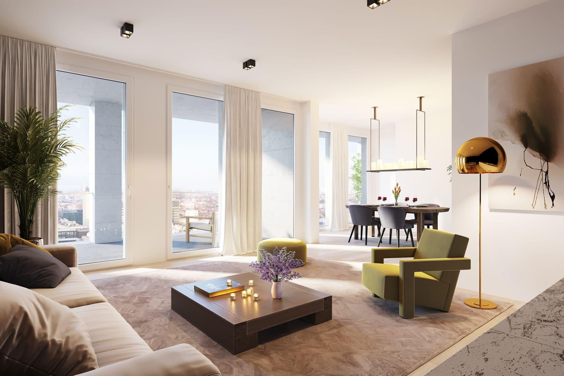 Vivez dans un appartement splendide, avec la ville à vos pieds